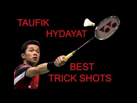TAUFIK HYDAYAT BEST TRICK SHOTS Badminton 2015