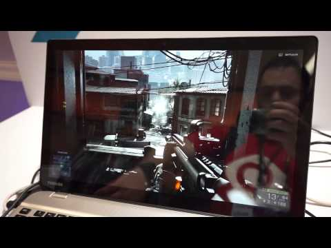 Toshiba 4K Laptop Playing Battlefield 4 at Computex 2014