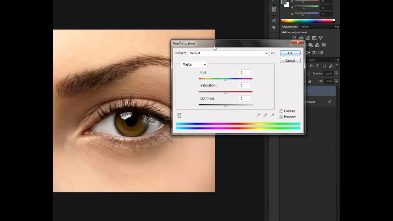 Tutorial How to change eyes color using Adobe Photoshop ...