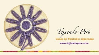 Flores Tejidas En Telar De Reloj (redondo): Técnica
