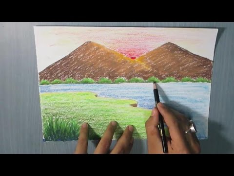 How To Draw A Mountain Landscape For Kids Easy Viewpure