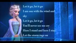 Idina Menzel Let It Go Official Lyrics Video (Elsa