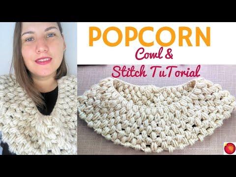 Popcorn Crochet Cowl   Crochet Puff Stitch