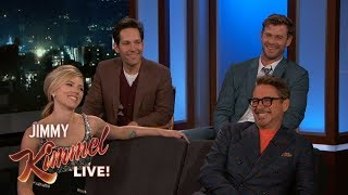 Avengers Cast on Premiere, Favorite Lines, Matching Tattoos & Birthday Gifts