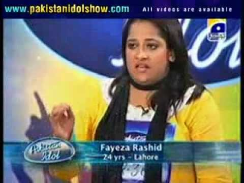 Pakistan Idol audition   Faiza Qurashi Episode 2