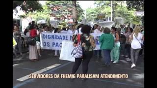 Servidores estaduais da sa�de d�o in�cio � paralisa��o em Belo Horizonte