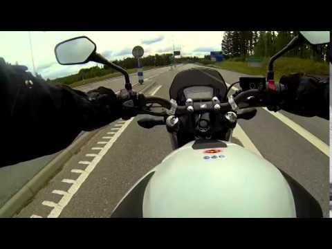 Motorcycle ride in Märsta and Rosersberg Sweden.