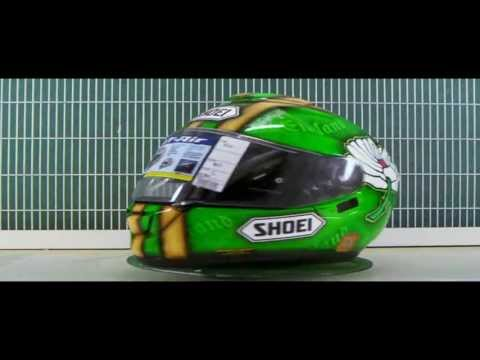 Darren Gough 2013 Shoei GT Air helmet