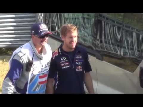 Sebastian Vettel can´t escape his Fans