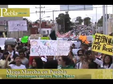Mega Marcha en Puebla, 7 julio 2012