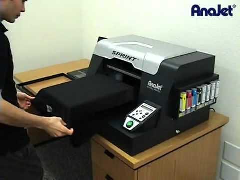 Maquina de impressao direta em tecido