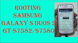 Samsung Galaxy S Duos 2 GT 7582/S7580 Rooting By BCD Tech
