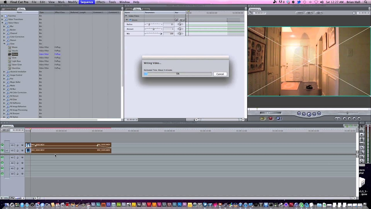 final cut pro how to show effects bar