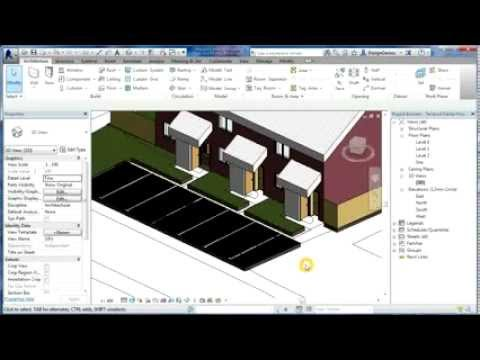 Revit Tutorials | Terraced Houses Design 7 | Revit Architecture 2014