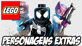 Lego Marvel Super Heroes - Todos os Personagens Extras DLC