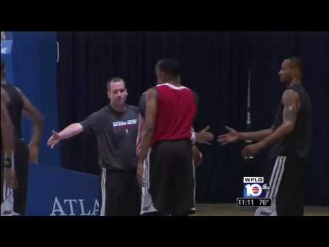 October 02, 2013 - WPLG 10 - Miami Heat Second Day of Practice in the Bahamas at Atlantis