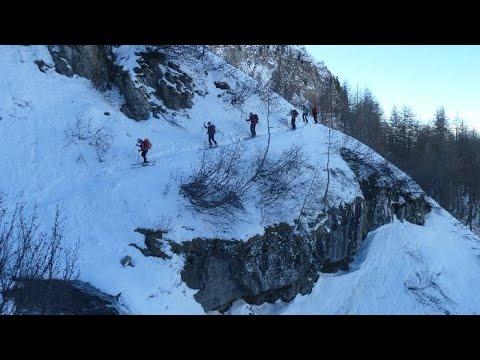 Ascensión y descenso con esquís al Vieux Chaillol desde Chaillol 1600