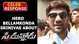 Watch Hero Bellamkonda Srinivas About Speedunnodu Movie response - Sonarika