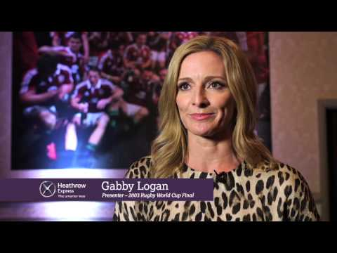15 seconds with Gabby Logan on her memories of the 2003 Rugby World Cup Final