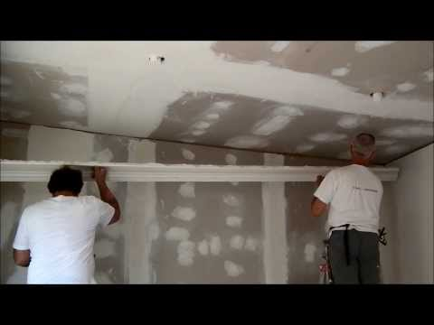 Plastering  installing Victorian Cornices and Troweling Dry Wall