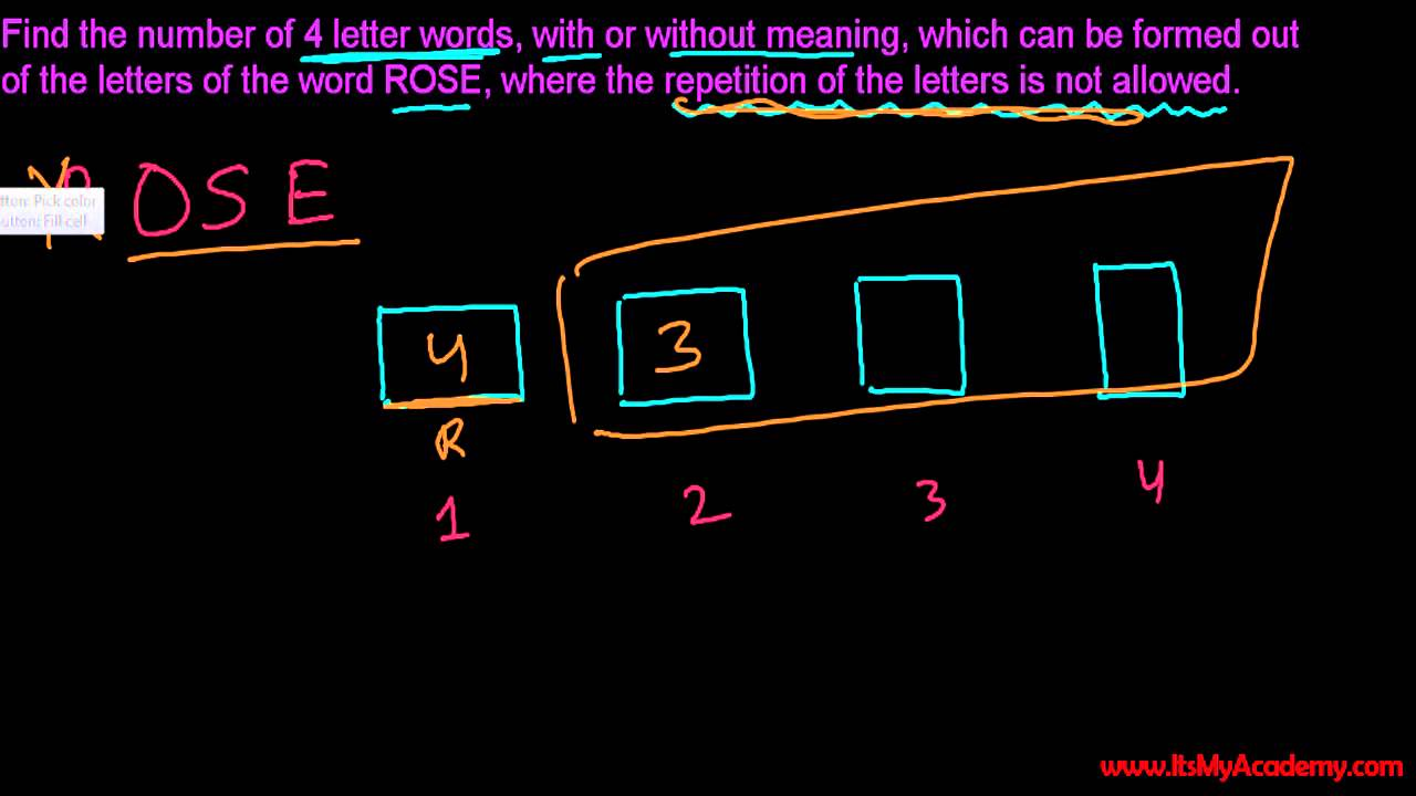 Probability How Many Combinations For  Letters