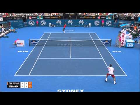 DEL POTRO (ARG) vs STEPANEK (CZE) QUARTER FINAL HIGHLIGHTS Apia International Sydney