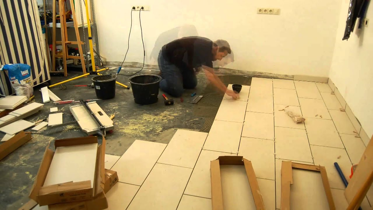 fliesen verlegen im zeitraffer how to tiling time lapse. Black Bedroom Furniture Sets. Home Design Ideas