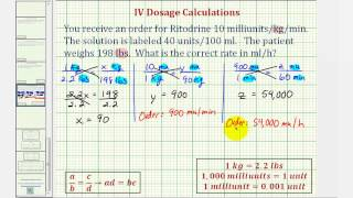 Ex: IV Dosage Calculation - Flow Rate Requiring Five Steps