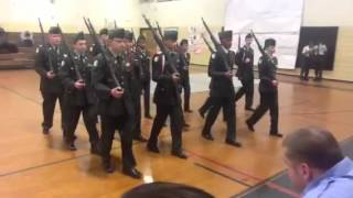 Colonial Forge High School Army JROTC Drill Meet Armed 3