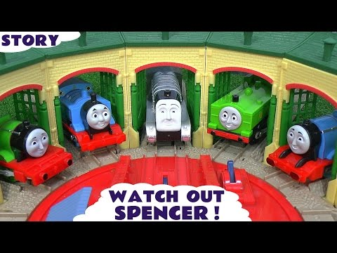 Thomas and Friends Play Doh Story Accident Crash Minions Thomas Watch Out Spencer Play-Doh