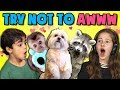 KIDS REACT TO TRY NOT TO AWW CHALLENGE