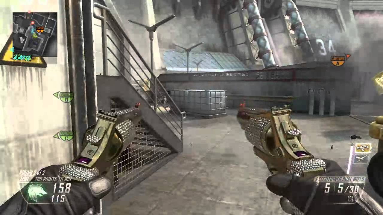 Gold gun with diamonds on black ops 2