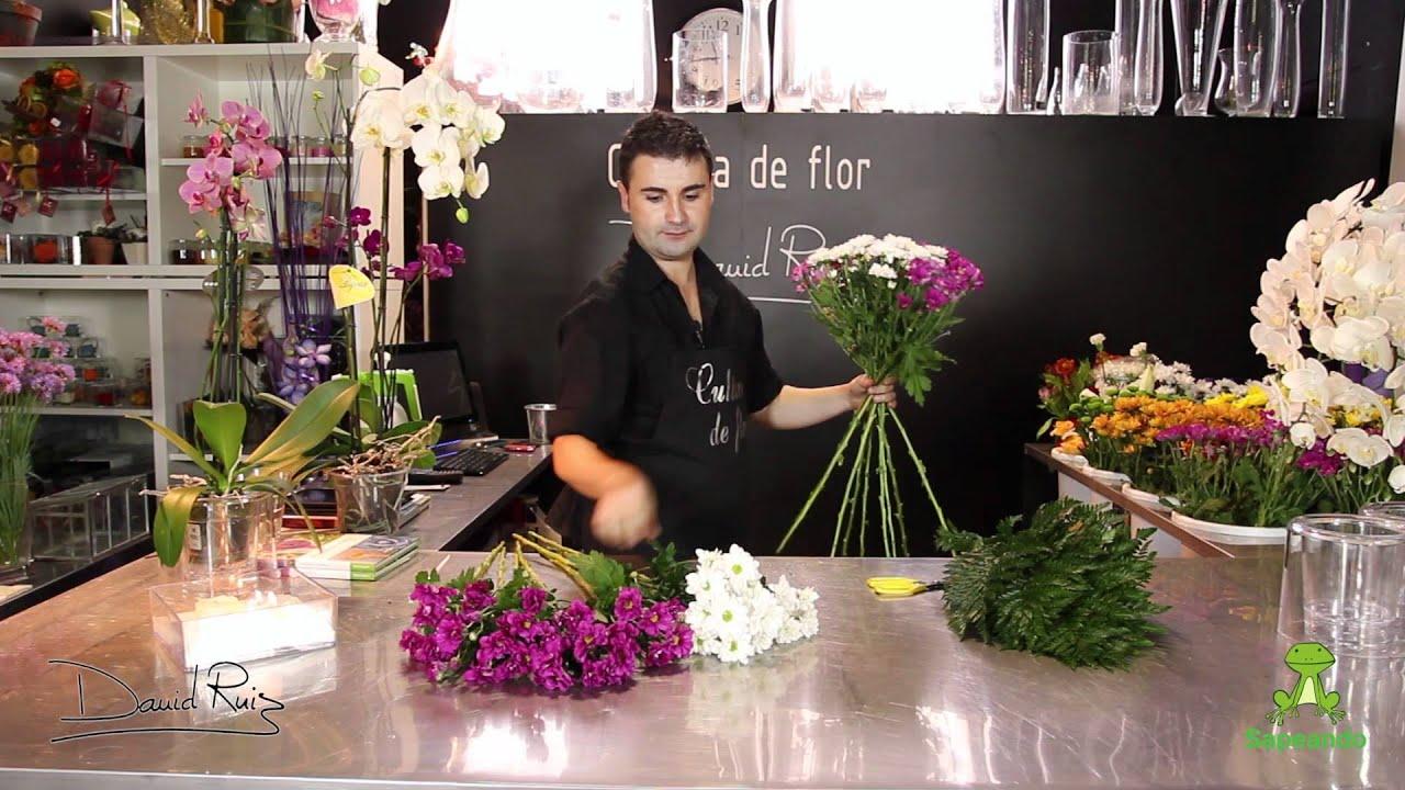 C mo hacer un ramo de flores en espiral youtube for Como disenar un jardin paso a paso