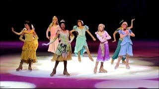 Princess Tiana, played by Kassy Kova, Disney on Ice, Princesses and Heroes, Disney on Ice