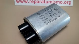 Probar el condensador/capacitador de microondas