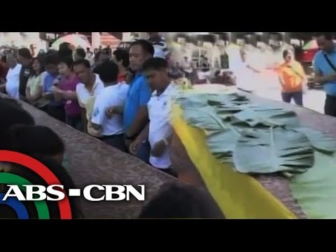 WATCH: 'Giant kakanin' headlines Pangasinan festival
