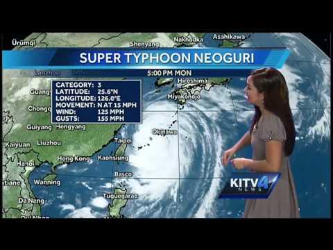 Typhoon Neoguri Update