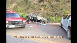Uma pessoa morre e duas ficam feridas em capotagem na BR-381
