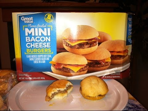 Walmart Great Value Flame Broiled Mini Bacon Cheese Burgers Review