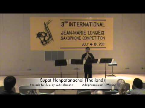 3rd JMLISC Supat Hanpatanachai Fantasie for Flute by G.P. Telemann