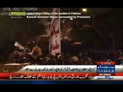 Alam Ghazi Abbas At Governor House Karachi In Shaheed Askari Raza Dharna