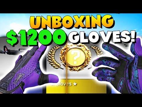 CS:GO - UNBOXING $1200 GLOVES! (Audio Warning)