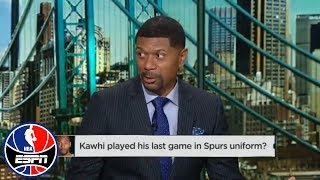 Jalen Rose thinks Kawhi Leonard has played his final game with the Spurs | NBA Countdown | ESPN