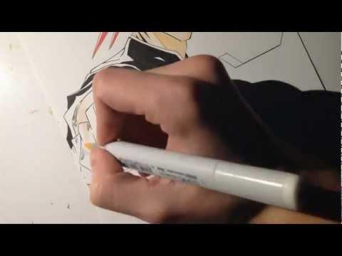 BLEACH - Copic Speed Drawing Renji Abarai