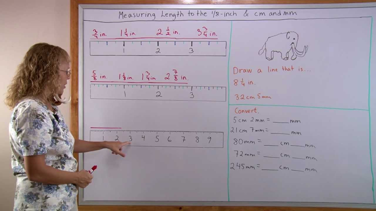Drawing Lines In Cm And Mm Worksheet : Measuring length to the nearest inch and in