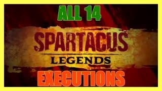 SPARTACUS LEGENDS ALL 14 WEAPON EXECUTIONS HD