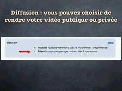 Mettre une video sur YouTube