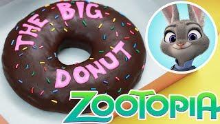 GIANT ZOOTOPIA DONUT! - NERDY NUMMIES - 'The Big Donut'