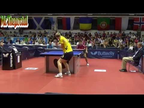 Table Tennis EYC 2014 JUNIOR FINAL - Alexandre Cassin Vs Elias Ranefur -