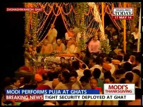 Modi performs puja & attends Ganga Arthi in Dashashvamedh Ghat-IV